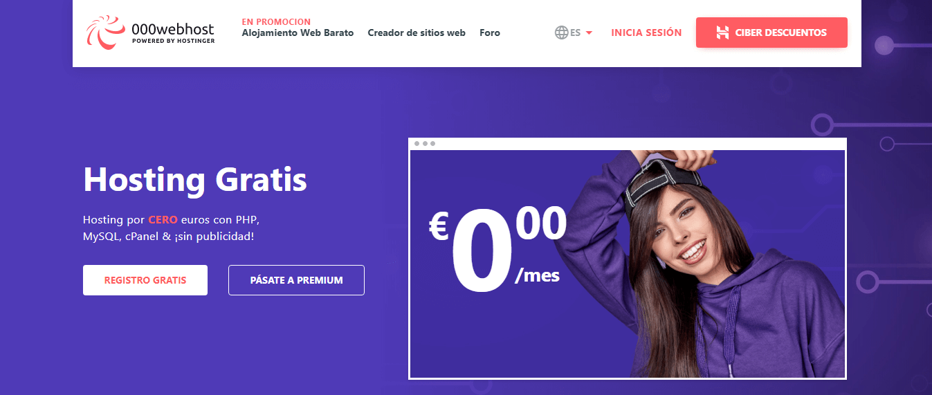 hosting gratis español 000webhost