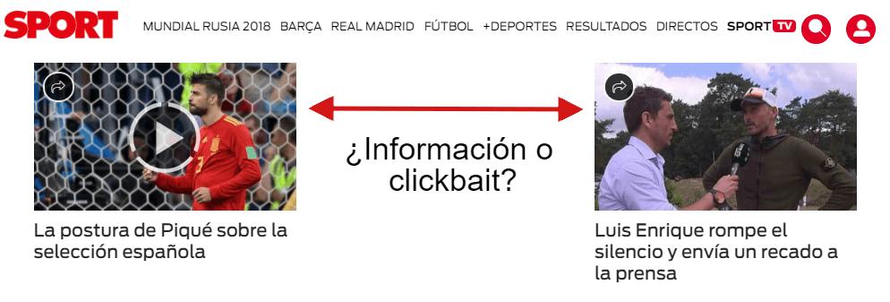 clickbait ejemplos prensa deportiva
