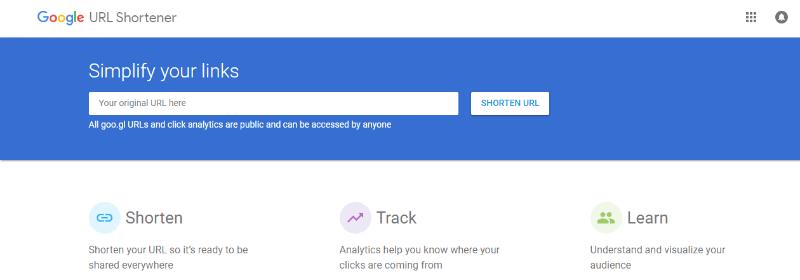 acortador url google url shortener