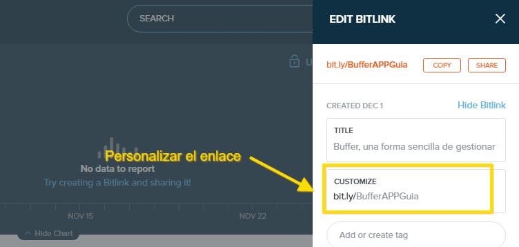 acortador url personalizar enlace