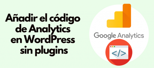 Añadir código de Google Analytics