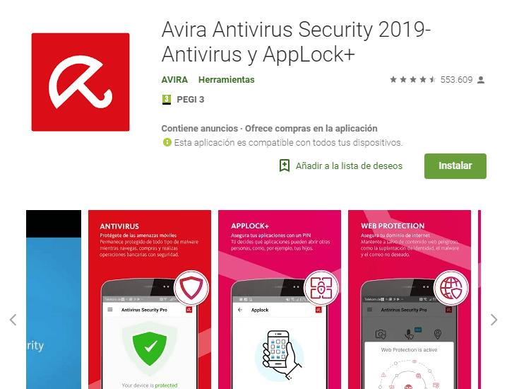 antivirus gratis para android avira security