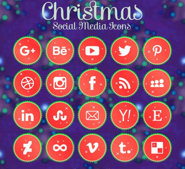 iconos redes sociales gratis navidad christmas