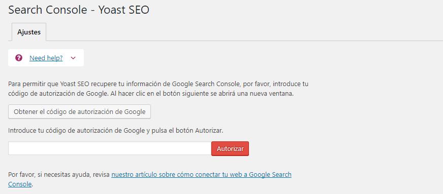 configuración google search console yoast seo