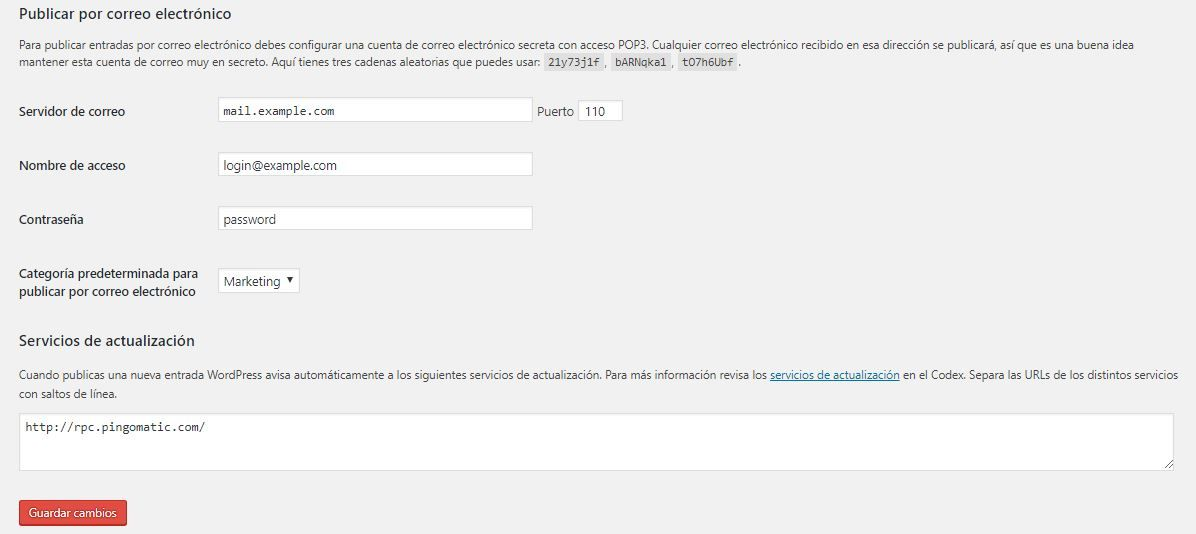 configurar wordpress