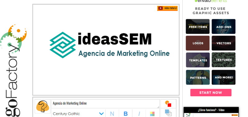 herramientas logos online logofactory