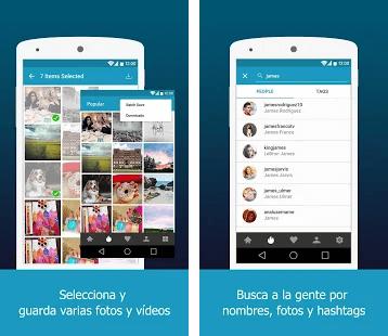 descargar fotos y vídeos de instagram android