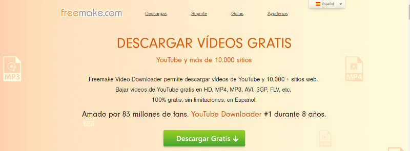 descargar vídeos gratis video converter freemake