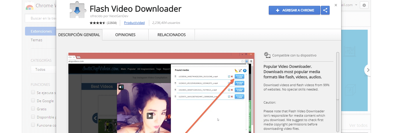 extensiones descargar videos youtube chrome firefox