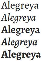 google fonts alegreya titulos