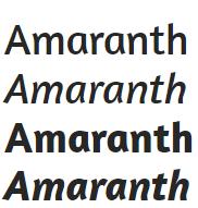 fuentes google titulos web amaranth