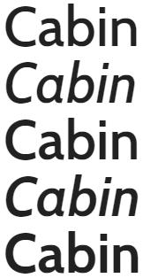 google fonts cabin para titulos o cuerpo