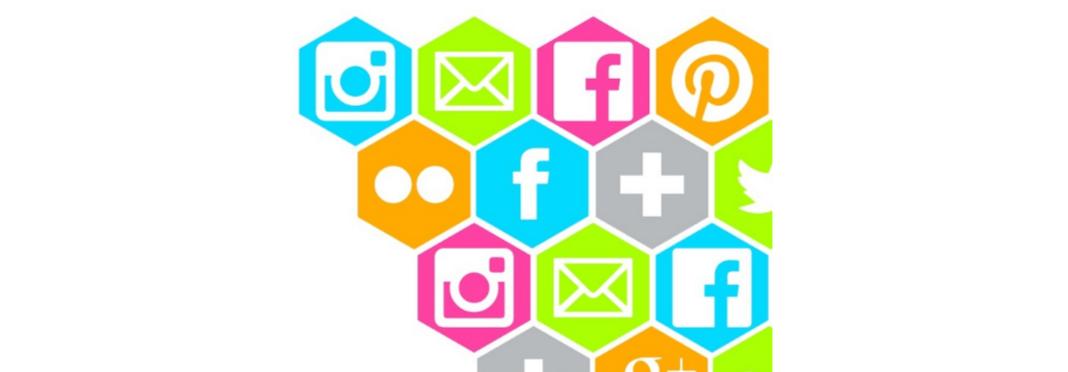iconos redes sociales forma geométrica