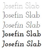 google fonts fuentes para diseño web josefin slab