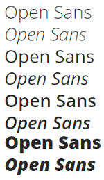 fuentes google fonts diseño web open sans