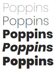 google fonts fuentes bonitas titulos diseño web poppins
