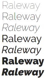 google fonts fuentes diseño web raleway
