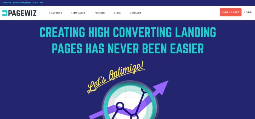 crear landing page gratis herramientas pagewiz
