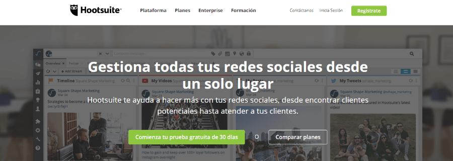 herramienta para twitter gestión redes sociales hootsuite