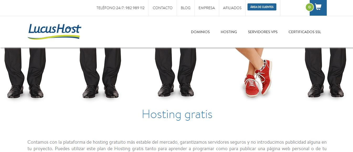 lucushost hosting web español gratis