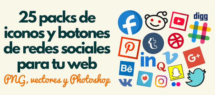 iconos redes sociales gratis packs botones social media cuadrados redondos flat