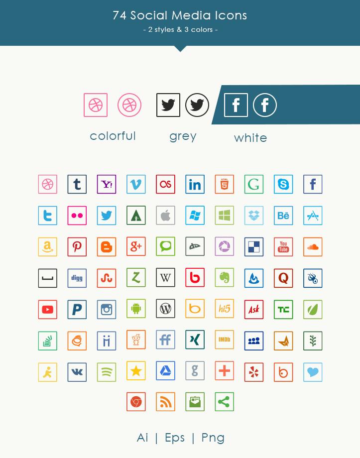 iconos redes sociales gratis redondos cuadrados ultrafinos