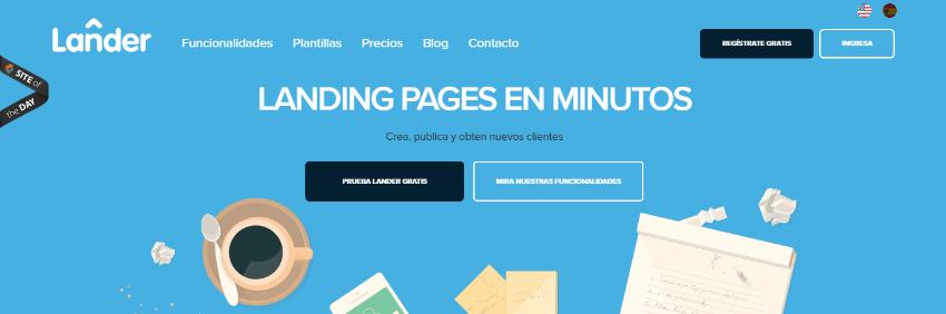 landeer app crear landing pages
