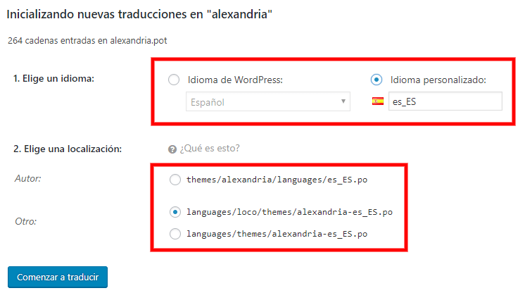 traducir wordpress plugins temas loco translate
