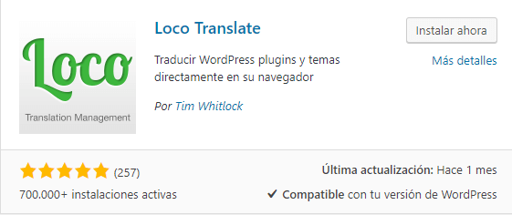 loco translate traducir temas plugins wordpress