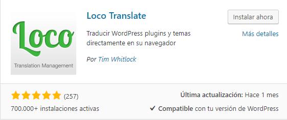 loco translate traducir temas plugins wordpress