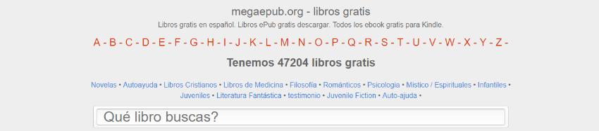 paginas para descargar ebooks gratis español megaepub