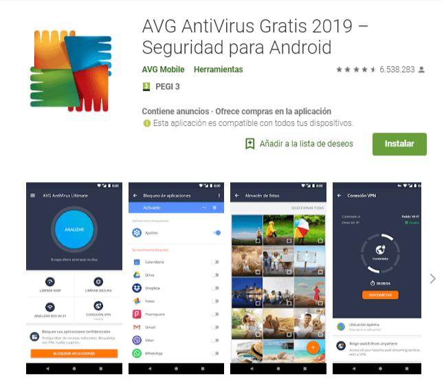 AVG AntiVirus Gratis 2019 Android
