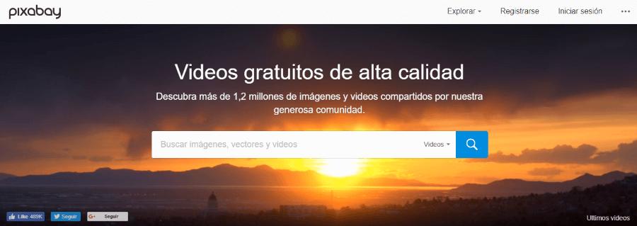 pixabay banco de vídeos gratis