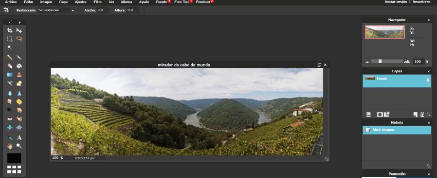 programa para editar fotos gratis pixlr