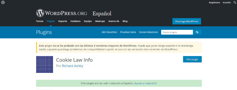 plugin cookies para wordpress cookie law info