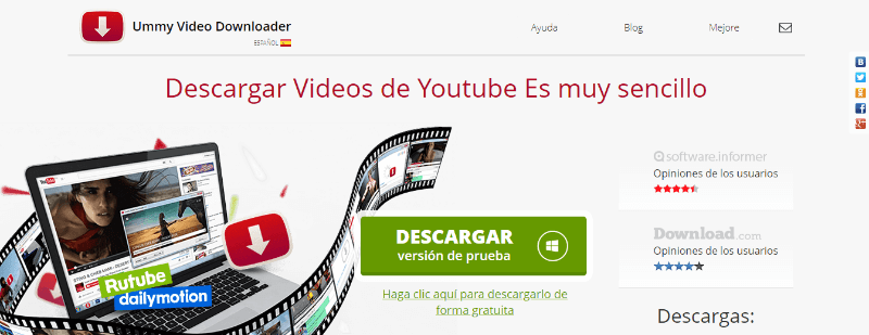 programa descargar videos gratis youtube ummy downloader