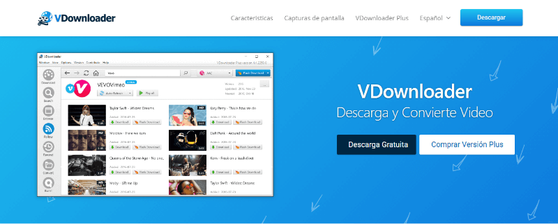 programa para descargar vídeos youtube vdownloader
