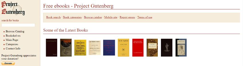 descargar libros gratis gutenberg