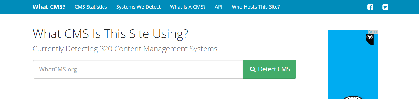 como saber que CMS utiliza una web