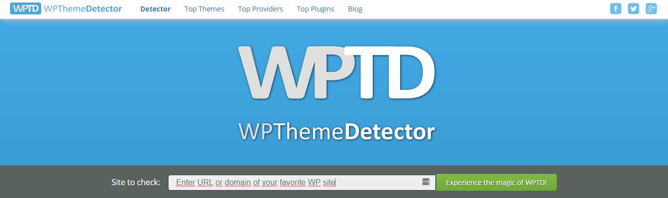 saber cms web wp theme detector