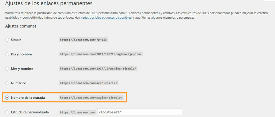 seo on page url amigables