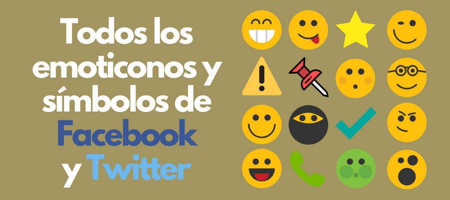 Flechas iconos emoticones y s mbolos para facebook y twitter for Emoticones para instagram