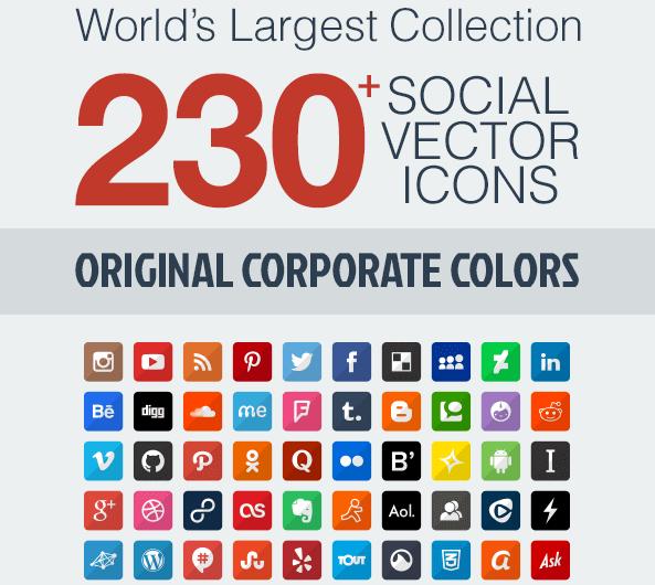 iconos redes sociales gratis vectores