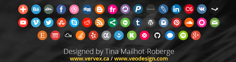 iconos social media redondos gratis